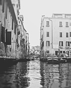 Row Boat Prints - View from a gondola in Venice Italy Print by Ivy Ho