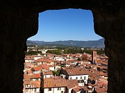 Lucca Framed Prints - View from a Tower Window in Lucca Framed Print by Angela Bushman