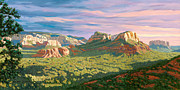 View From Airport Mesa - Sedona Print by Steve Simon