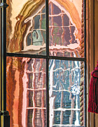 Glass Reflecting Metal Prints - View From Another Window Metal Print by Carolyn Marshall