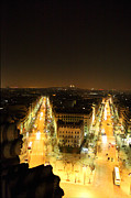 War Photo Framed Prints - View from Arc de Triomphe - Paris France - 01131 Framed Print by DC Photographer