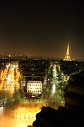 Avenue Art - View from Arc de Triomphe - Paris France - 011311 by DC Photographer