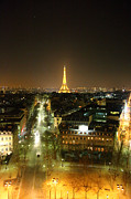 View From Arc De Triomphe - Paris France - 011313 Print by DC Photographer