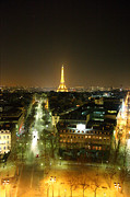 World Photo Prints - View from Arc de Triomphe - Paris France - 011314 Print by DC Photographer