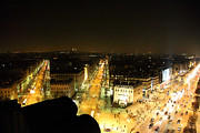 Street Prints - View from Arc de Triomphe - Paris France - 011317 Print by DC Photographer