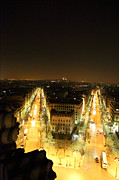 Famous Metal Prints - View from Arc de Triomphe - Paris France - 01132 Metal Print by DC Photographer