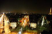 Avenue Prints - View from Arc de Triomphe - Paris France - 011321 Print by DC Photographer