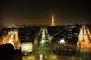 Arch Prints - View from Arc de Triomphe - Paris France - 011323 Print by DC Photographer