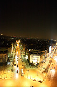 Street Photos - View from Arc de Triomphe - Paris France - 01134 by DC Photographer