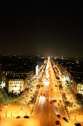 Champs Posters - View from Arc de Triomphe - Paris France - 01135 Poster by DC Photographer