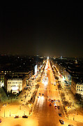 Champs Prints - View from Arc de Triomphe - Paris France - 01136 Print by DC Photographer