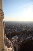 Sacred Photo Posters - View from Basilica of the Sacred Heart of Paris - Sacre Coeur - Paris France - 011310 Poster by DC Photographer