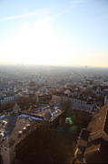 Parisian Prints - View from Basilica of the Sacred Heart of Paris - Sacre Coeur - Paris France - 011314 Print by DC Photographer