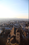 Rue Prints - View from Basilica of the Sacred Heart of Paris - Sacre Coeur - Paris France - 011318 Print by DC Photographer
