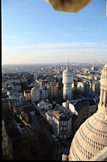 Attractions Prints - View from Basilica of the Sacred Heart of Paris - Sacre Coeur - Paris France - 011322 Print by DC Photographer