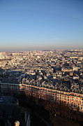 View From Basilica Of The Sacred Heart Of Paris - Sacre Coeur - Paris France - 011328 Print by DC Photographer