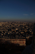 View From Basilica Of The Sacred Heart Of Paris - Sacre Coeur - Paris France - 011329 Print by DC Photographer