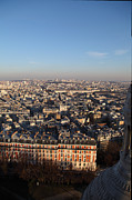 Domes Prints - View from Basilica of the Sacred Heart of Paris - Sacre Coeur - Paris France - 011330 Print by DC Photographer