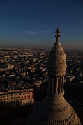 Dome Posters - View from Basilica of the Sacred Heart of Paris - Sacre Coeur - Paris France - 011331 Poster by DC Photographer
