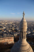 Domes Prints - View from Basilica of the Sacred Heart of Paris - Sacre Coeur - Paris France - 011332 Print by DC Photographer