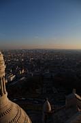 Horizontal Photo Prints - View from Basilica of the Sacred Heart of Paris - Sacre Coeur - Paris France - 011335 Print by DC Photographer