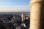 Domes Prints - View from Basilica of the Sacred Heart of Paris - Sacre Coeur - Paris France - 01138 Print by DC Photographer