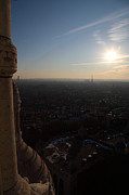 View From Basilica Of The Sacred Heart Of Paris - Sacre Coeur - Paris France - 01139 Print by DC Photographer