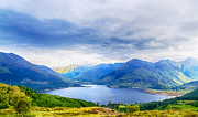 Highlands Of Scotland Prints - View from Bealach Ratagan to the Five Sisters of Kintail Print by Chris Thaxter