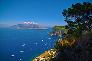 Cristal Framed Prints - View from Capri Framed Print by Dany Lison