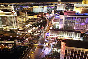 Flamingo Photos - View from Eiffel Tower in Las Vegas - 01134 by DC Photographer