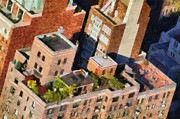 Empire State Building Paintings - View from Empire State Building by George Atsametakis