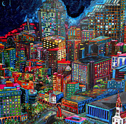 Skyline Painting Posters - View From Hemisphere Poster by Patti Schermerhorn
