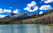 View From Little Redfish Lake Print by Robert Bales