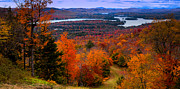 Autumn Foliage Photo Framed Prints - View From McCauley Mountain II Framed Print by David Patterson