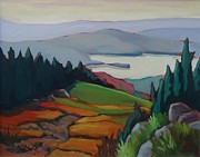 Laurentians Paintings - View from Mont Tremblant by Edward Abela