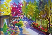Colors Of Autumn Originals - View from my Studio Door by Therese Fowler-Bailey