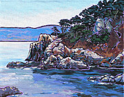 Point Lobos Posters - View from Point Lobos Poster by Nadi Spencer