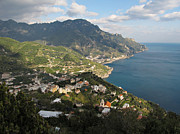 Mediterranean Landscape Framed Prints - View from Ravello Framed Print by Kiril Stanchev