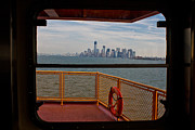 Staten Island Ferry Framed Prints - View from Staten Island Ferry Framed Print by John McGraw