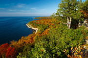 Green Bay Prints - View from Svens Bluff Print by Chuck De La Rosa