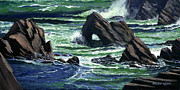 Crashing Surf Paintings - View From The Bluffs by Frank Wilson