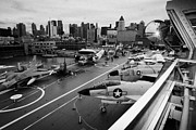 Manhaten Posters - view from the bridge of the USS Intrepid at the Intrepid Sea Air Space Museum Poster by Joe Fox