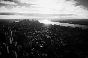 Manhatten Prints - View From The Empire State Building Over Lower Manhattan New York City Usa Print by Joe Fox