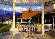 Wagon In A Barn Prints - View from the Gazebo Print by Ronald Chambers
