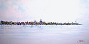 New York State Paintings - View From The Hudson by Jack Diamond