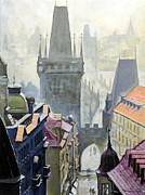View From The Mostecka Street In The Direction Of Charles Bridge Print by Yuriy Shevchuk