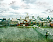 London England  Digital Art - View From the Tate by Karen  Burns