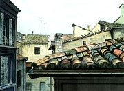 Tile Roof Framed Prints - View from the Top Framed Print by Barbara Jewell