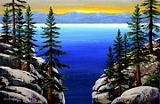 Lake Tahoe Paintings - View From The Trail by Frank Wilson