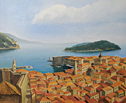 Old Wall Painting Prints - View From Top of The World Print by Kiril Stanchev